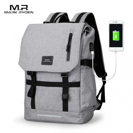 Mark Ryden Large Capacity 15.6 Inch Laptop Bag Man USB Design Backpack Bag Black Backpack women School Bags Mochila Masculina