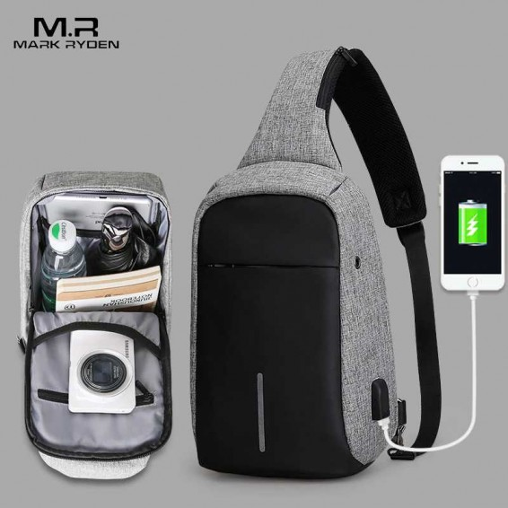 Mark Ryden New Arrival Crossbody Bags Men Anti-theft Chest Pack Summer Short Trip Messengers Bag Water Repellent Shoulder Bag