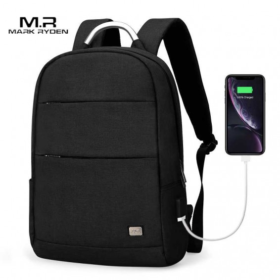 Mark Ryden New Arrivals Usb Recharging Anti-thief Backpack Waterproof Two Size Fashion Portable Bag Male