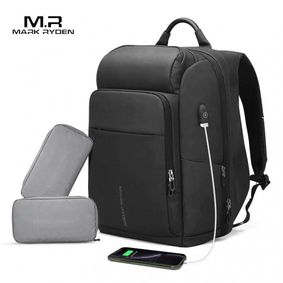 Mark Ryden Men Backpack Multifunction USB Charging 17 Inch Laptop Bag Large Capacity Waterproof Travel Bags For Men