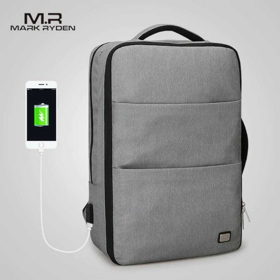 Mark Ryden Man Laptop Backpack Business Bags with USB Charging Port School Travel Pack Fits 15.6 Inch Laptop