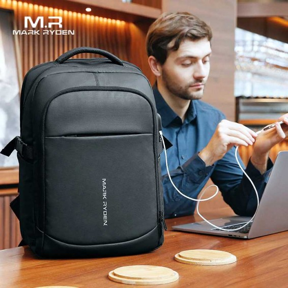 Mark Ryden 2020 Man Backpack Multifunctional Waterproof 15.6inch Laptop Multi-layer Pockets Bag Man USB Charging School Backpack