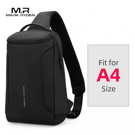 2020 New Men Crossbody Bag Fits 12inch iPad Shoulder Messenger Bags Male Waterproof USB Recharging Sling bag
