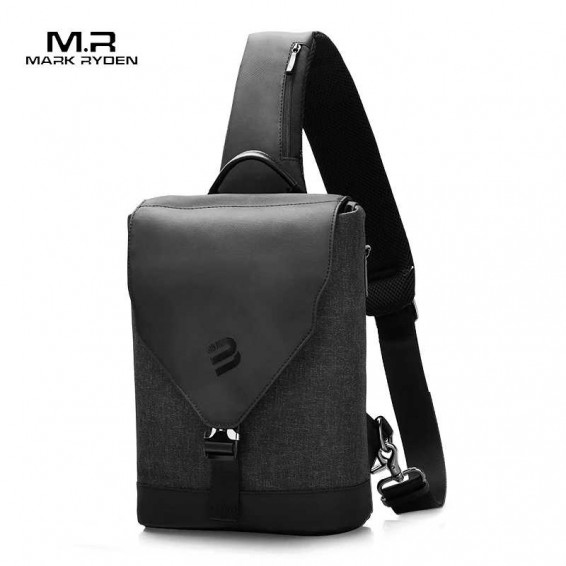 Mark Ryden 2020 New Multifunction Anti-theft Shoulder Bag USB Charging Sling Bag 9.7 inch Ipad Water Resistant Crossbody Bag