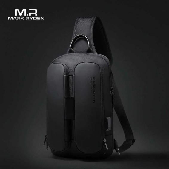 2020 Mark Ryden Shoulder Bag Men USB Charging Men Crossbody Bag Water Repellent Multifunction Sling Bag Fit for 9.7inch Ipad