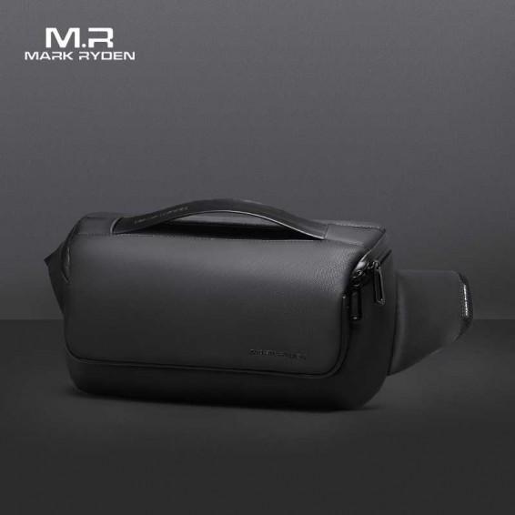 2020 Mark Ryden Men 9.7inch Crossbody Bag Water-repellent Sling Pack Oxford Male Messenger Shoulder Bag Short Trip Sling Bag